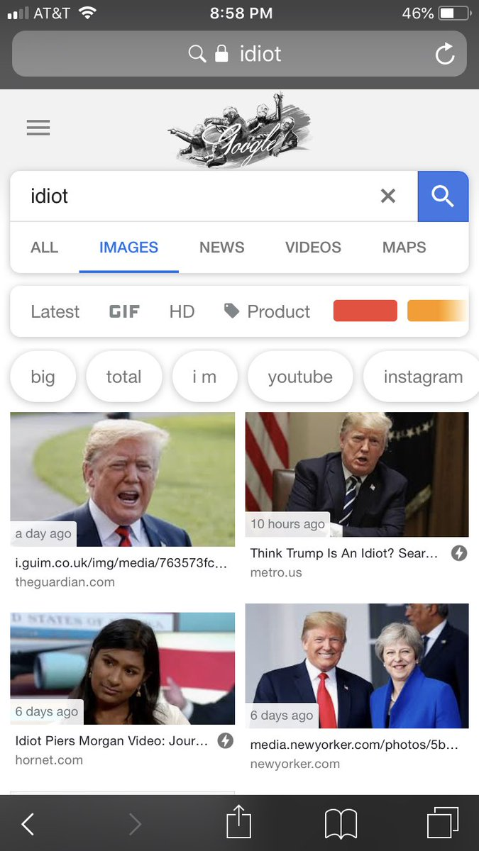 Search Idiot, Get Trump: Activ idiot