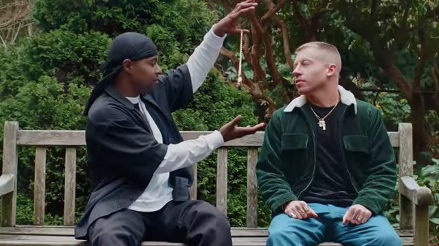 RT @RollingStone: Watch Macklemore play God in the new