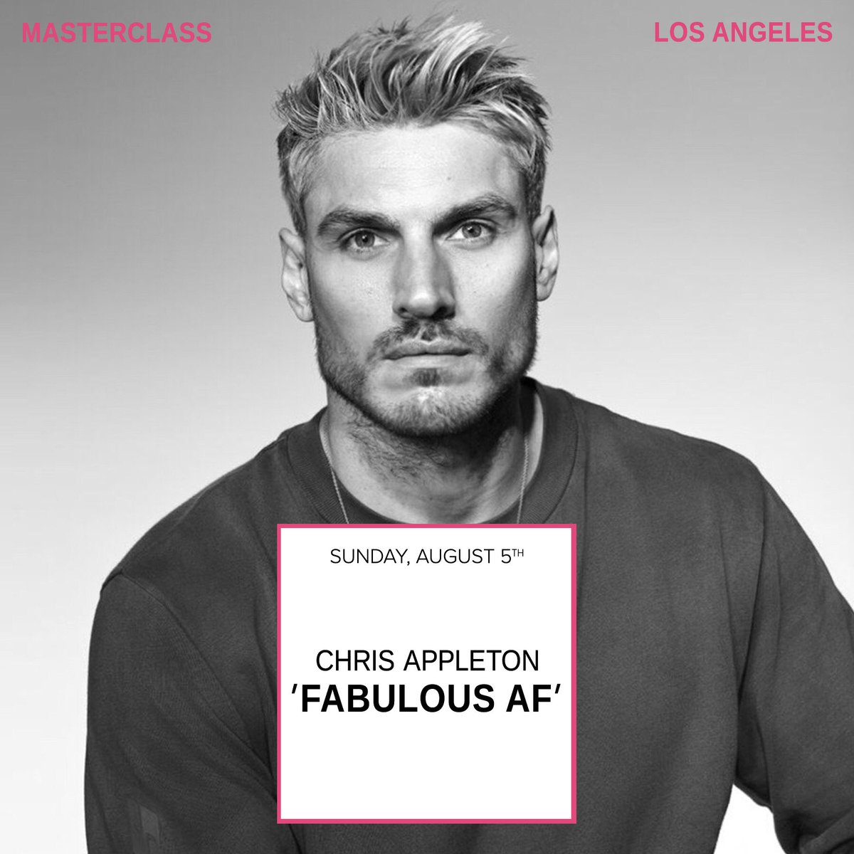 So excited for @ChrisAppleton1 Who's going? https://t.co/3cm6Z0kEcY https://t.co/IWYpVm8Aqm