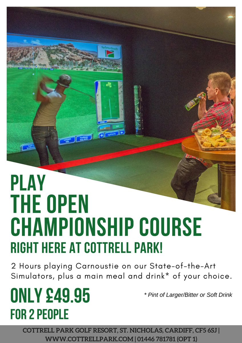 test Twitter Media - #TheOpen is now under way! To celebrate we have this fantastic offer on our Simulators!  Why don't you try your hand at the Open Championship Course and enjoy a nice Cold Pint afterwards!?🏌️‍♂️🍻 https://t.co/NSKMS1mreQ