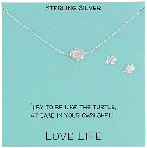 Sterling Silver Turtle Necklace and Earrings Jewelry Set, 18″  https://t.co/fVYN16Me3f https://t.co/CQf9vyuTvD