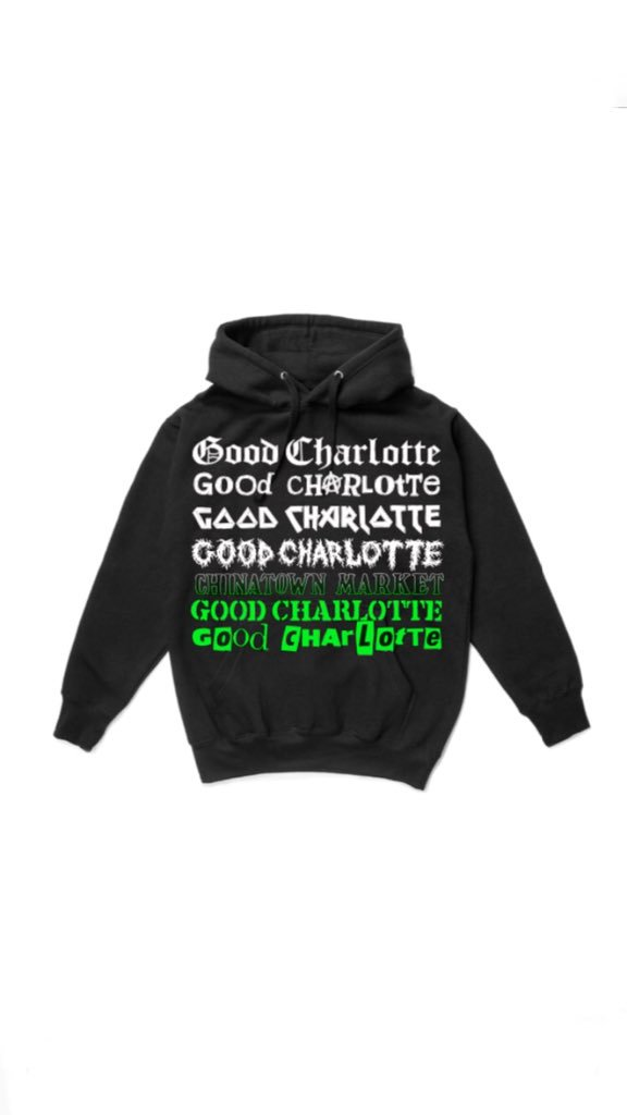 RT @GoodCharlotte: Good Charlotte X @CHlNATOWNMARKET collaboration on @WWD Check it out! https://t.co/r0N9prCcjo https://t.co/Mq795YLvPm