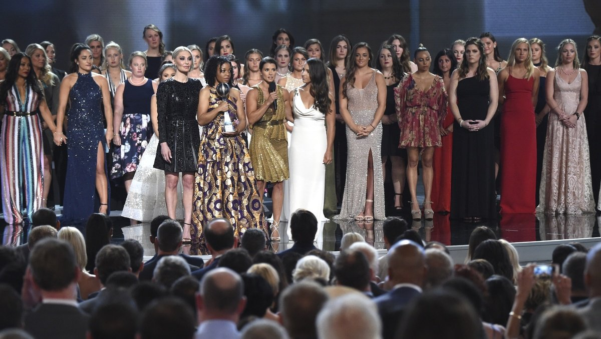 test Twitter Media - 141 sexual abuse survivors accept courage award at ESPYS https://t.co/XDipSkoFOK https://t.co/w2FrdGkdc9