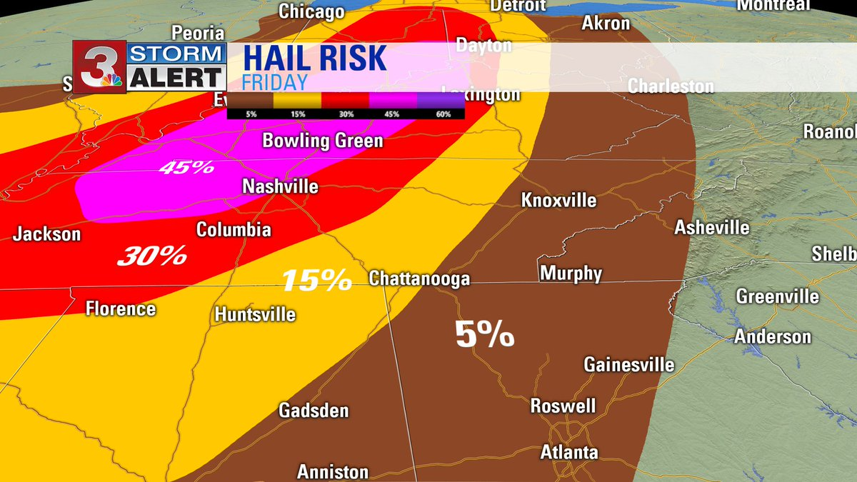 Chance for hail with storms late tonight into the overnight stands at 5% to 15%. #CHAwx https://t.co/dyQ4oMgccj
