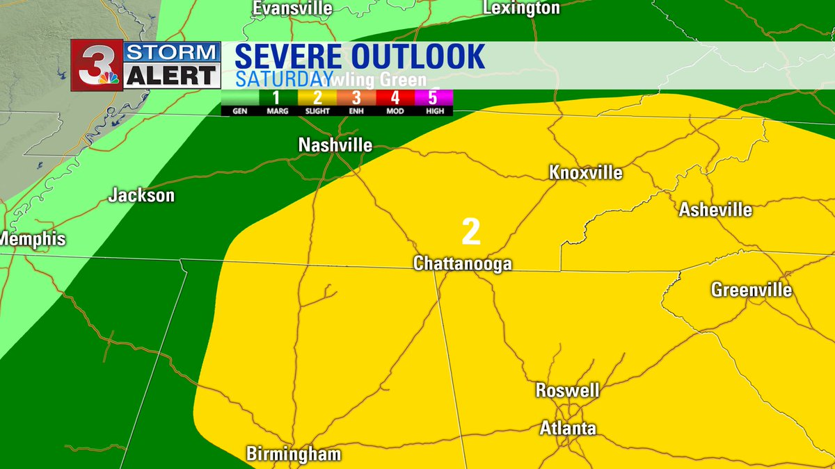 Don't relax too much Saturday.  Saturday we are still under a slight risk for isolated severe storms. #CHAwx https://t.co/aSBAwk3pvN