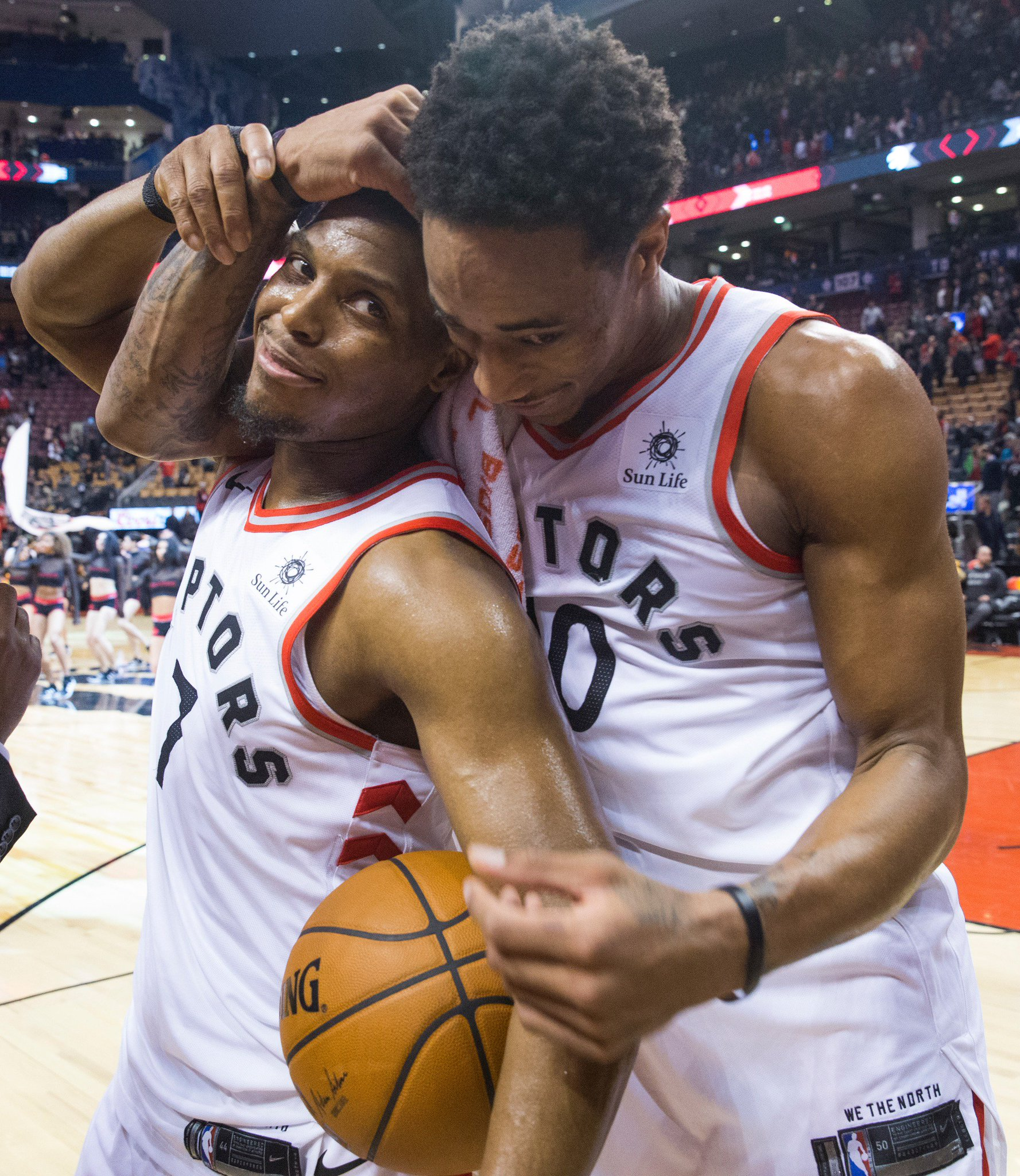 """""""I haven't talked to Kyle. I'm sure that this is hard on him. One of his best friends in the world, they did everything together, they were the dynamic duo of the Raptors for years, and they brought us to where we are. I hope to talk to him soon,"""" Ujiri says of @Klow7. https://t.co/wferd9m1ec"""