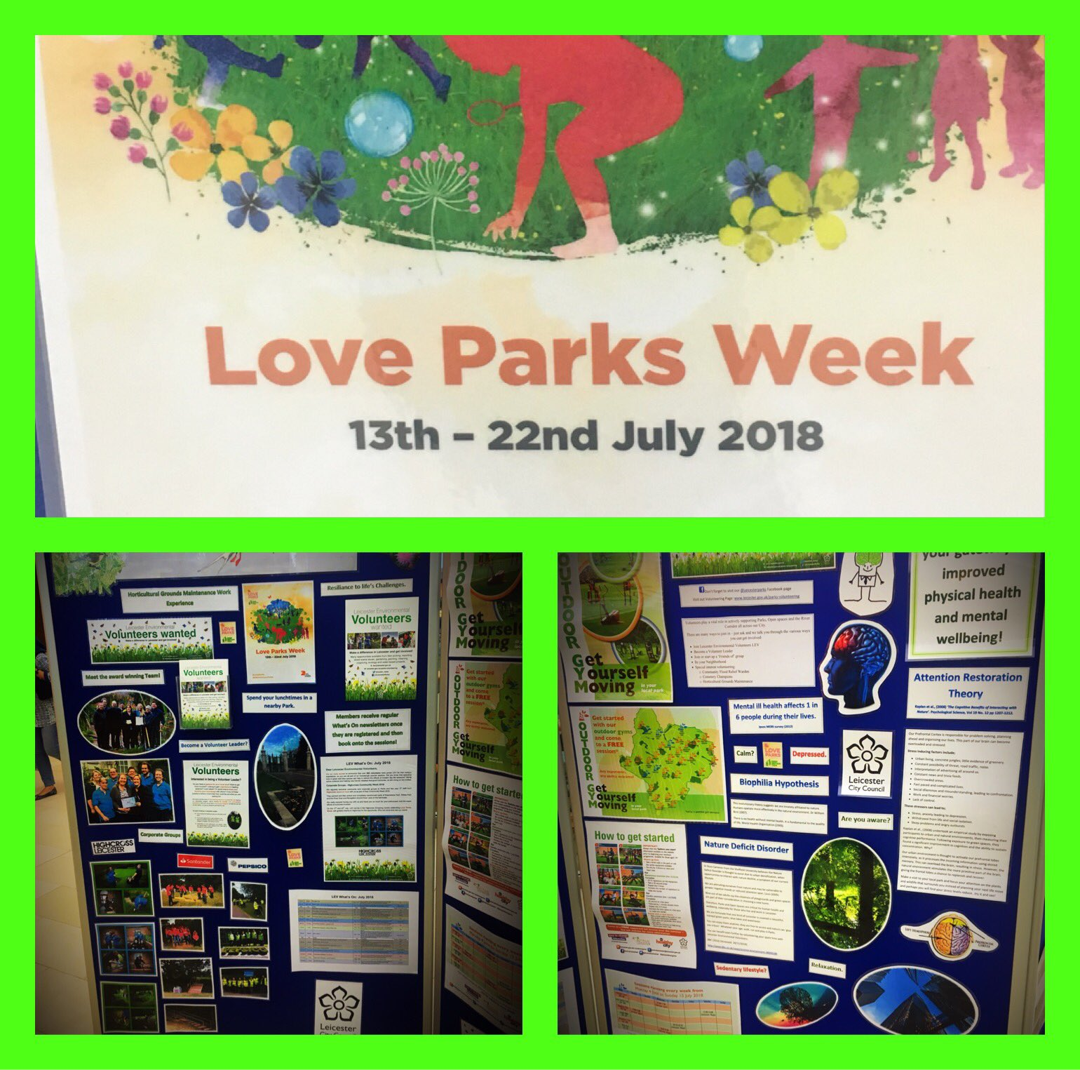A huge thank you to @Leicester_News #Parks #Team for visiting us @Highcross for #NationalLoveParks week to raise awareness of #Leicester #Environmental #Volunteers and events that are taking place across #Leicester Parks this summer! https://t.co/94B1MBHhDf