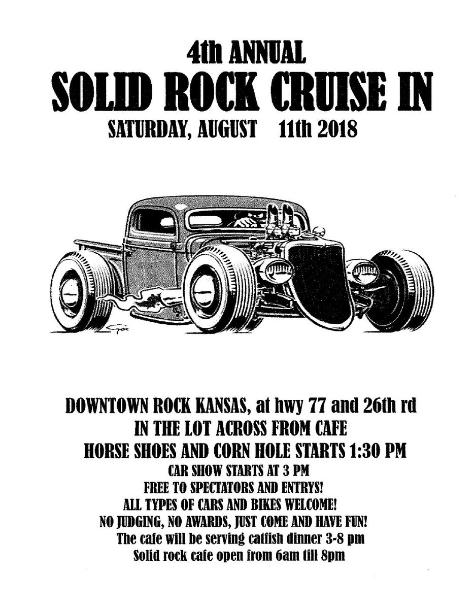 test Twitter Media - Have you heard? 4th Annual Solid Rock Cruise In will be Saturday, August 11 in Rock! https://t.co/G7ss2S8TPq