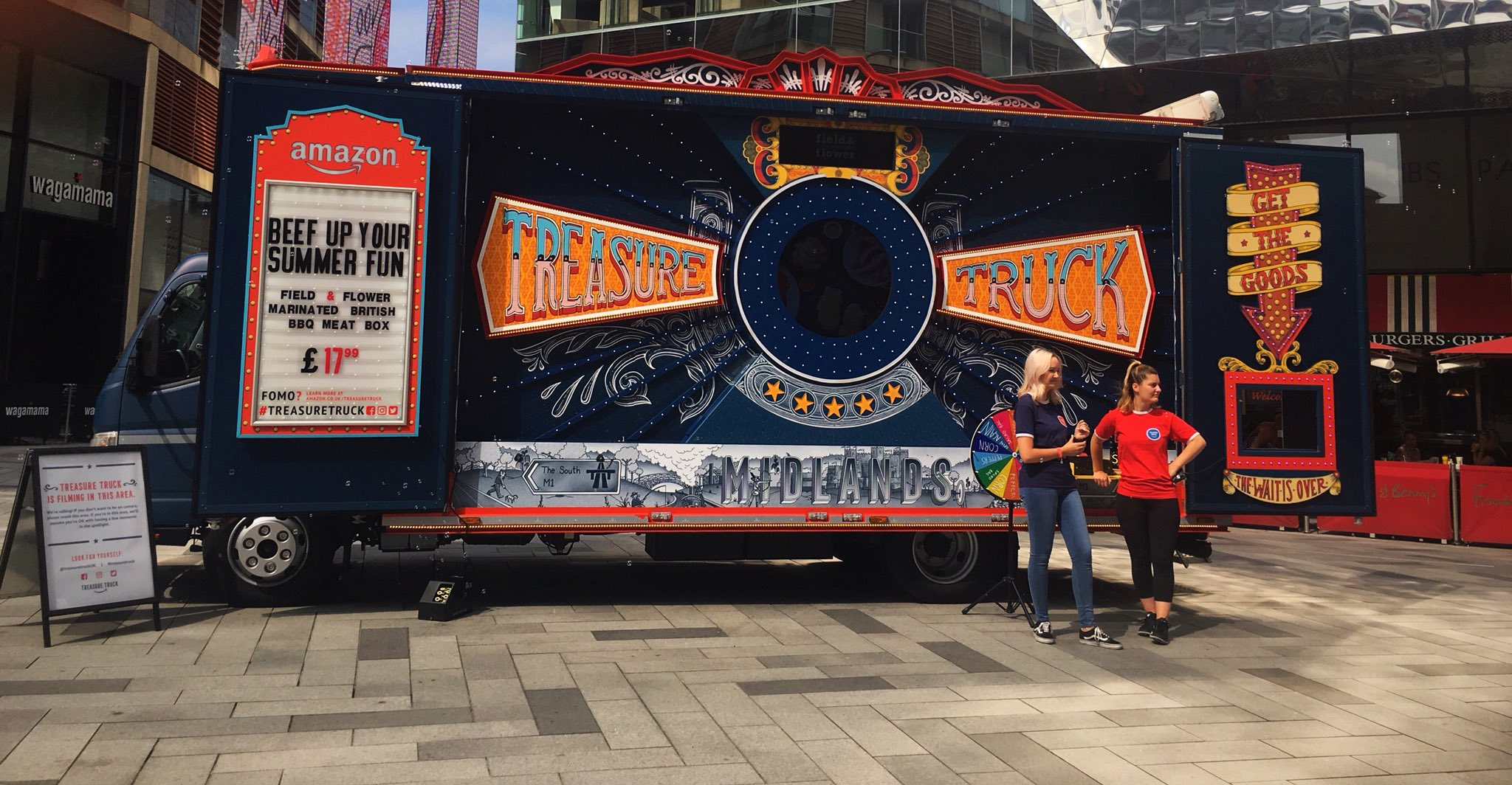 It's a great day to bag yourself a bargain with the @amazon #TreasureTruck @highcross #StPetersSquare today 10-12pm #discounts #prizes #offers https://t.co/4wKlOc8Zcs