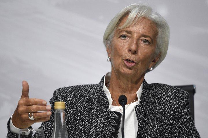 @BroadcastImagem: Lagarde, do FMI, discursa durante a reunião do G20, em Buenos Aires, na Argentina. Gustavo Garello/AP