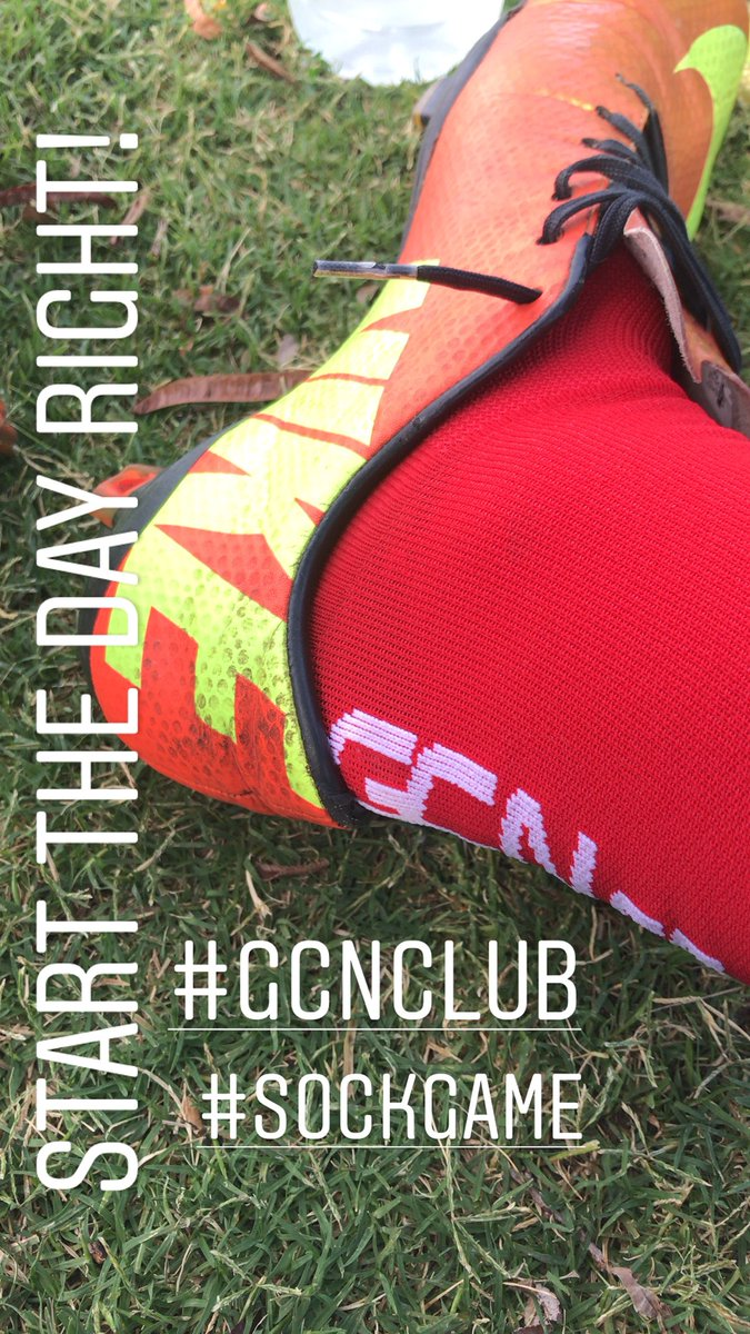 Beautiful morning... stepping my #footy #sockgame up! Thanks #gcnclub #gcnccfounder Too windy to ride in #vegas