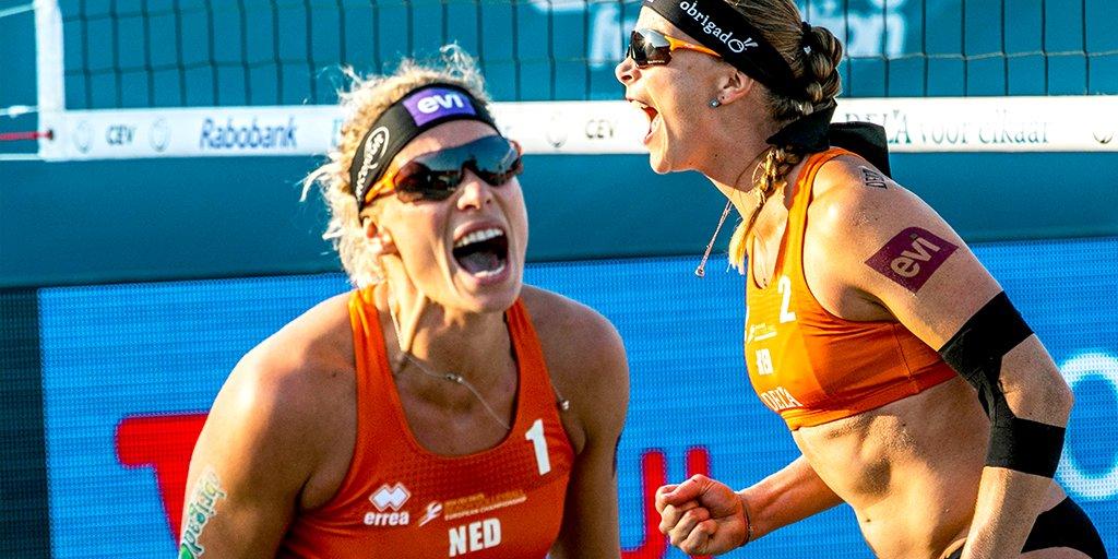 test Twitter Media - Goud voor Sanne Keizer en Madelein Meppelink 🥇! De dames winnen in eigen land de finale van Zwitserland en daarmee zijn zij de nieuwe Europese kampioenen beachvolleybal 🏐. Toppers! https://t.co/gJbRU1FBet