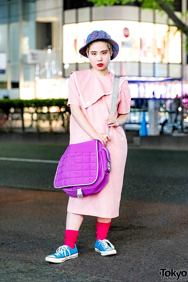 18 Year Old Japanese Art Student Sakurako On The Street In