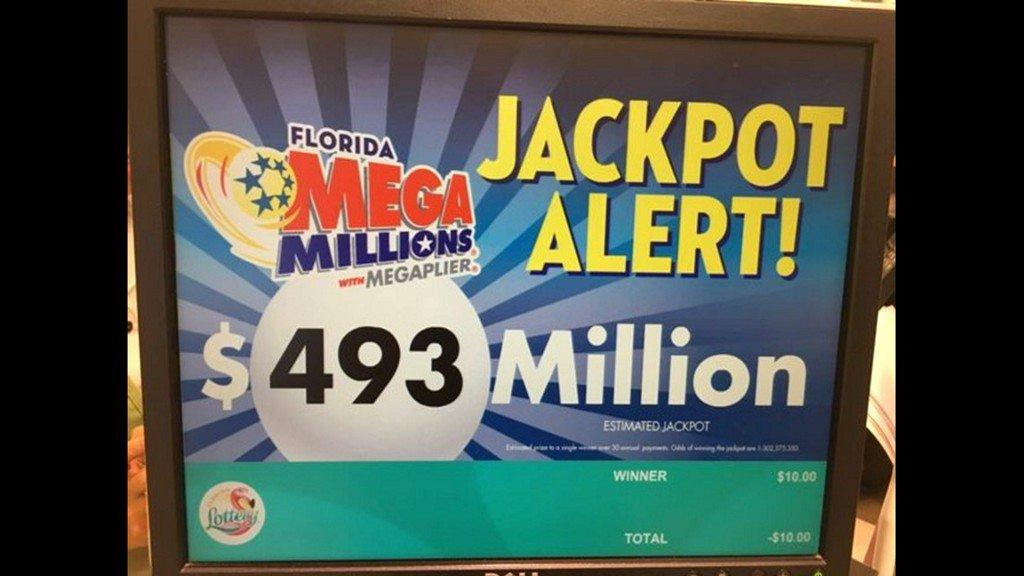 Mega Millions soars to $493 million for Tuesday https://t.co/CFubF8cGhY https://t.co/UIOWHUsjLc