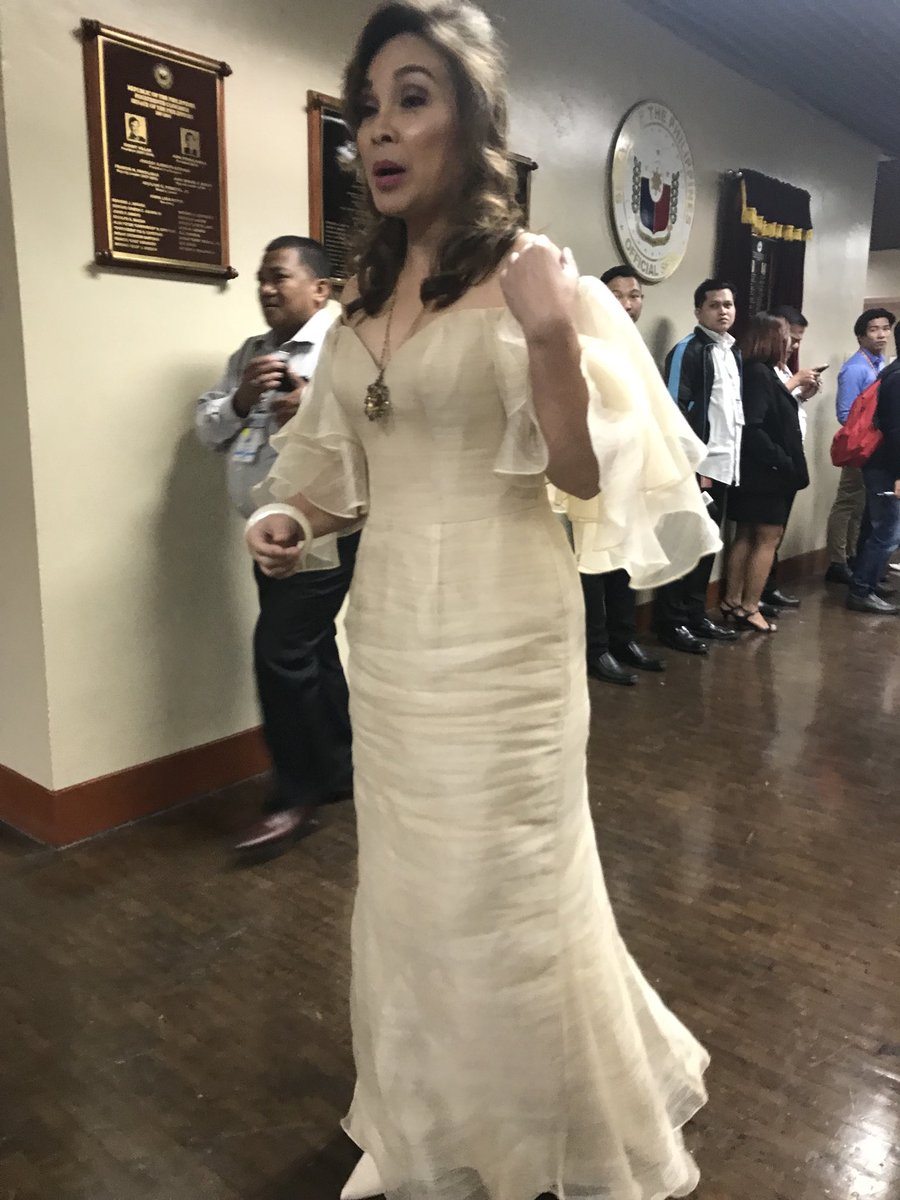 Look: sen. legarda wearing her 10-year-old filipiniana gown by paul ...
