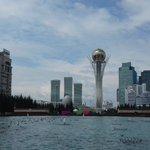 Astana : étape 1/5 de notre retour en Europe en train et bateau ! Astana : step 1 on the way back to Europe !