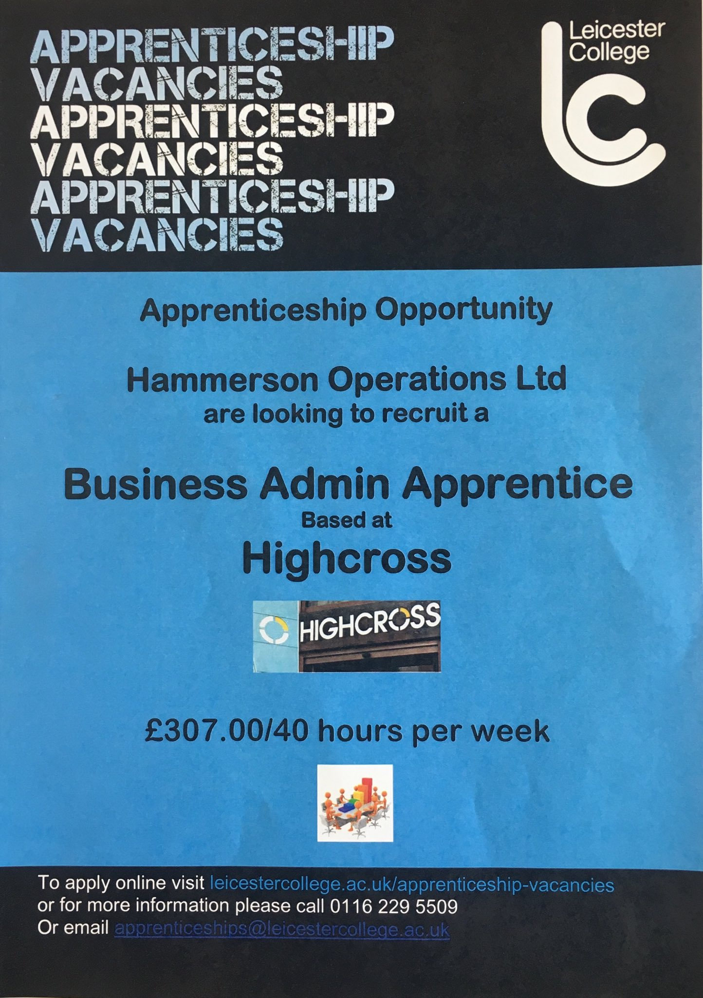 What a fantastic opportunity! Are you looking to #Earn & #Learn? This could be the perfect #apprenticeship  #opportunity for you! Find out how @Highcross @Hammersonplc @LeicesterColl can help be part of #YourFuture #Careers #Employment https://t.co/ad9Tfj4nfI