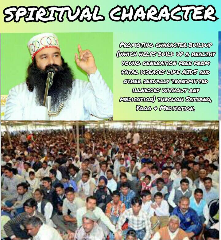 RT @SincereRitika: Revered Saint @Gurmeetramrahim ji's initiative #SpiritualCharacter promotes Character Building( which helps build up a h…