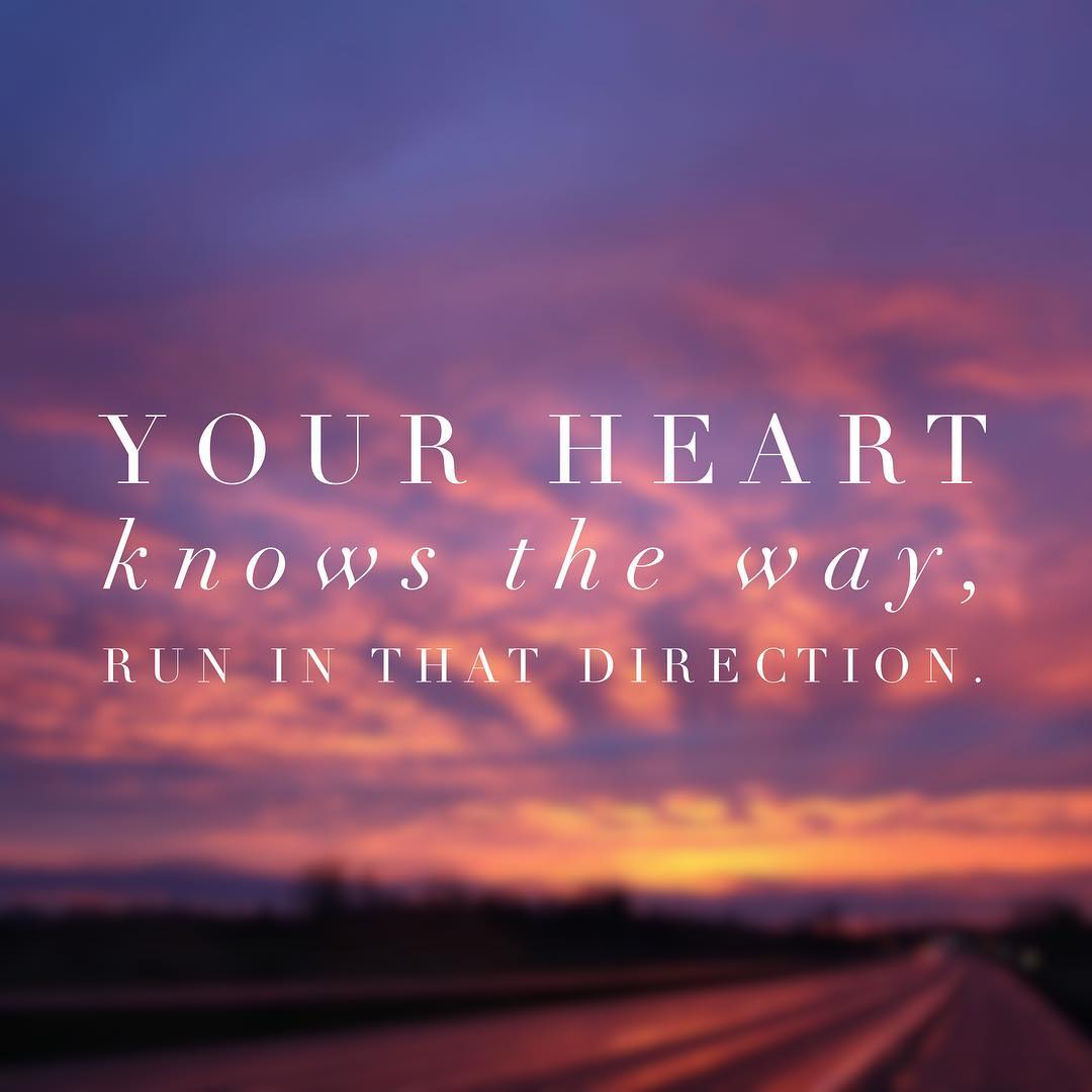 Your heart knows the way, run in that direction. #rumi #sundayvibes #listentoyourheart https://t.co/DHUAQpF2xD