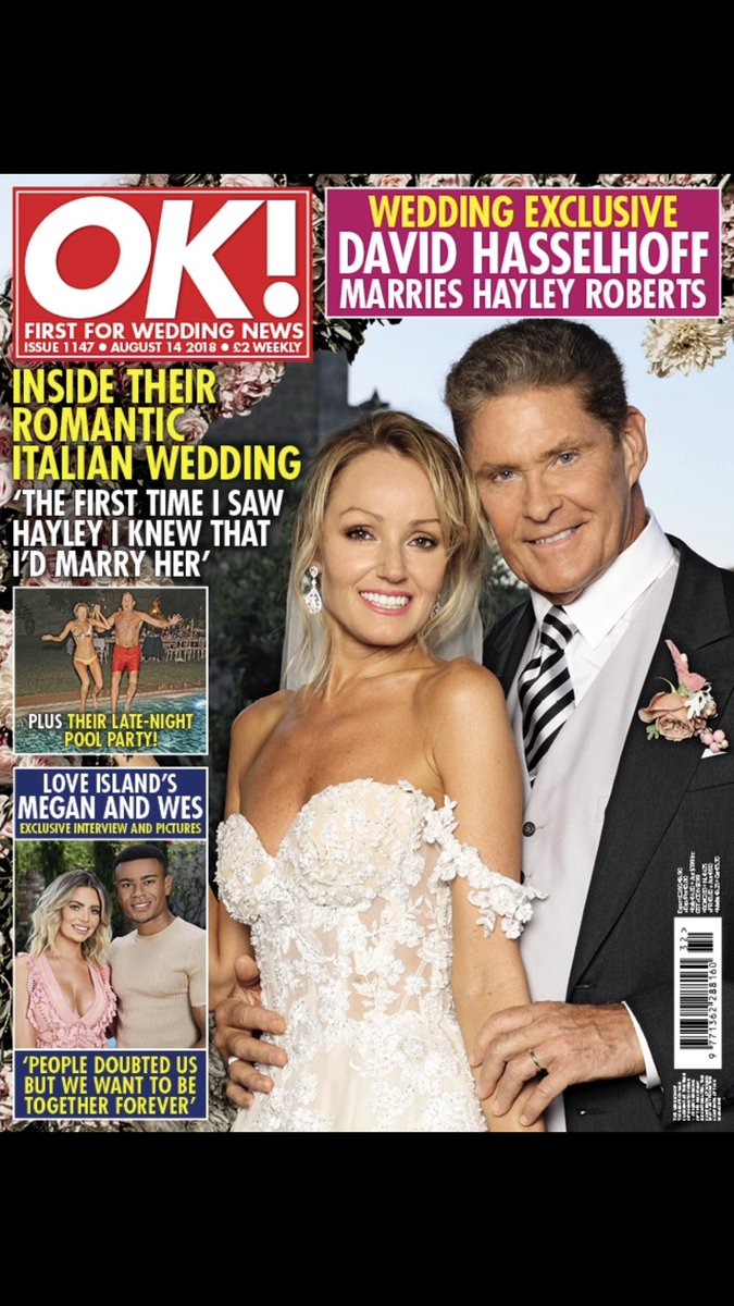 Check out OK magazine to see our wedding day! Love Mr and Mrs Hasselhoff https://t.co/eoB1F2JSO7