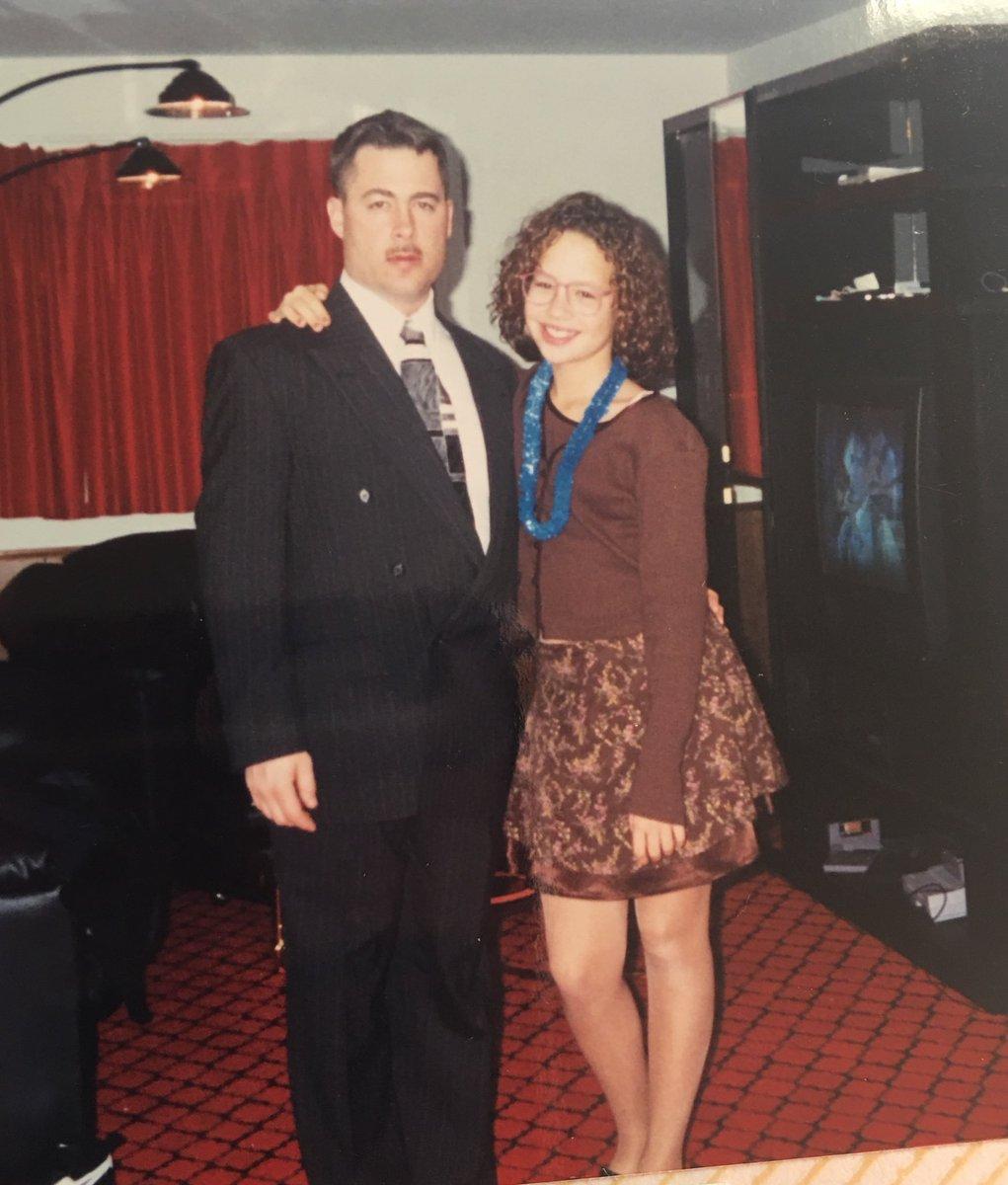 #tbt my dad and I 🤓 I was 12 years old 😂 cwzTQXZfOS
