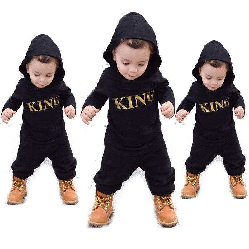 US Newborn Infant Baby Boy Kid King Romper Jumpsuit Bodysuit Clothes...