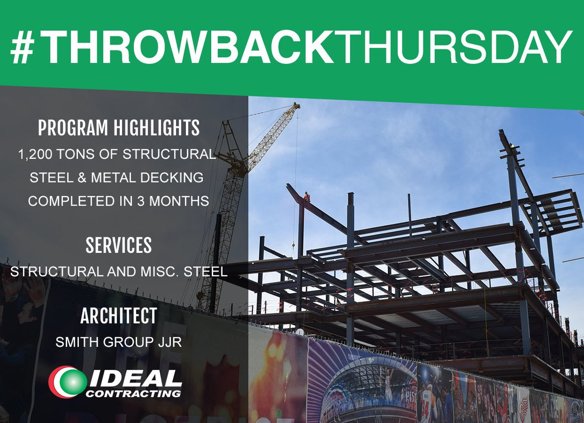 test Twitter Media - #ThrowbackThursday to a year ago! Ideal Contracting was on site finishing up the structural and misc. steel at the WSU Mike Ilitch School of Business. Click the link to read more about the project: https://t.co/mtgRdrDKV5 https://t.co/bJ1XELOKOd