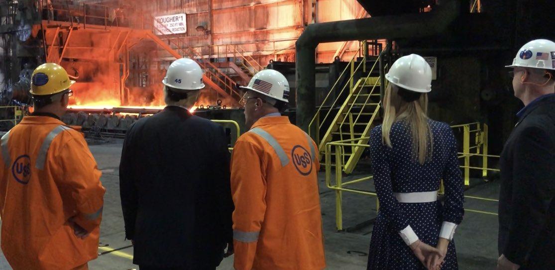 RT @Scavino45: .@POTUS @realDonaldTrump and @IvankaTrump tour @U_S_Steel in Granite City, Illinois... https://t.co/v04IhEiadt