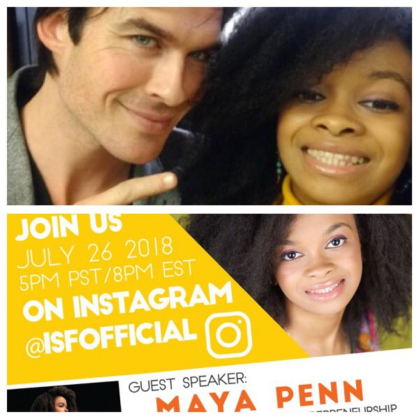 Don't miss @isfofficial live with Maya Penn TONIGHT!!!!! https://t.co/4nc6FwvHN8