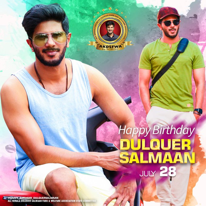 Wishing Dulquer Salmaan Happy Birthday Here is the Dulquer Salmaan Fans Common DP