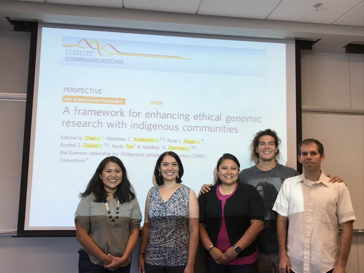 test Twitter Media - A rare photo op with my co-authors on the day that our paper was published!  @SINGConsortium #SING2018SEATTLE #Indigenomics #NativesInScience https://t.co/jobgK2Z0Em @science_punx @Rene_Begay @kstsosie @KeoluFox https://t.co/1H8UlZeM4C