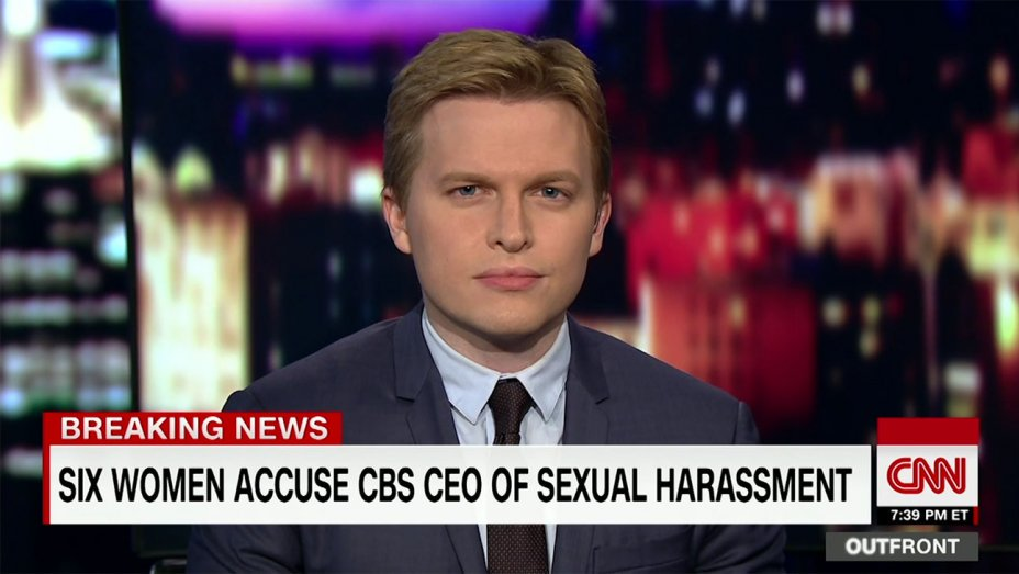 "Ronan Farrow says Leslie Moonves allegations shed light on ""culture of impunity"" at CBS"
