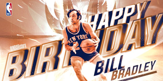 Happy 75th Birthday to 2x champ with the Hall of Famer Bill Bradley!