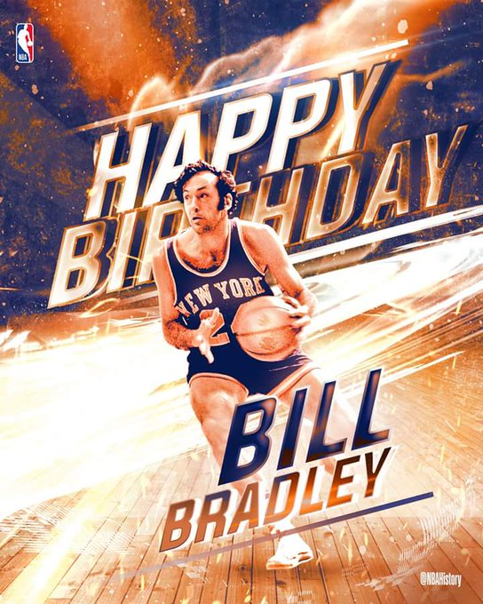 Happy Birthday to Hall of Famer & 2-time NBA champ Bill Bradley!