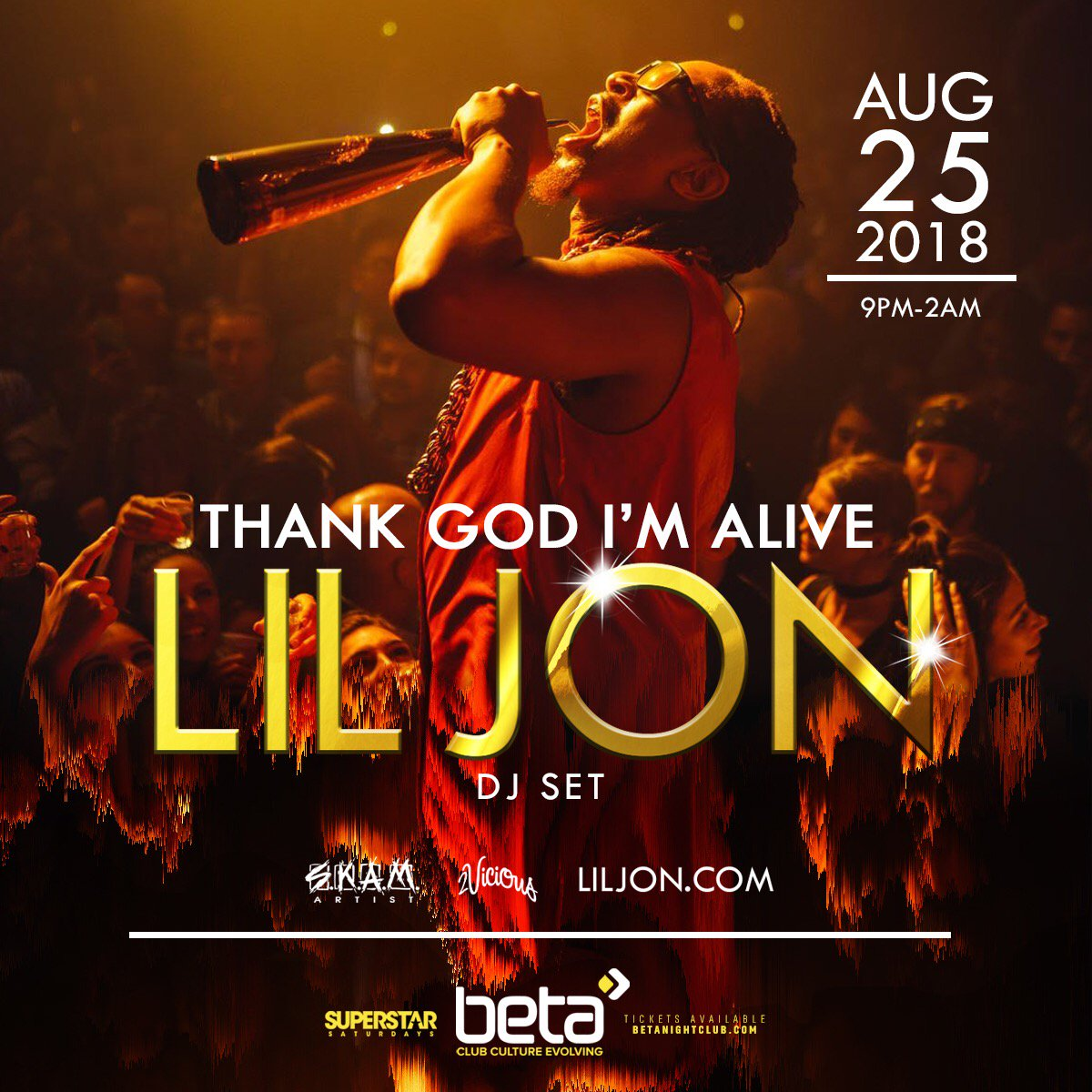 RT @BetaNightclub: Denver favorite @LilJon is back for #SuperstarSaturdays 8/25! Tickets: https://t.co/f6X1JxSWRm https://t.co/jJfo2WEwNZ