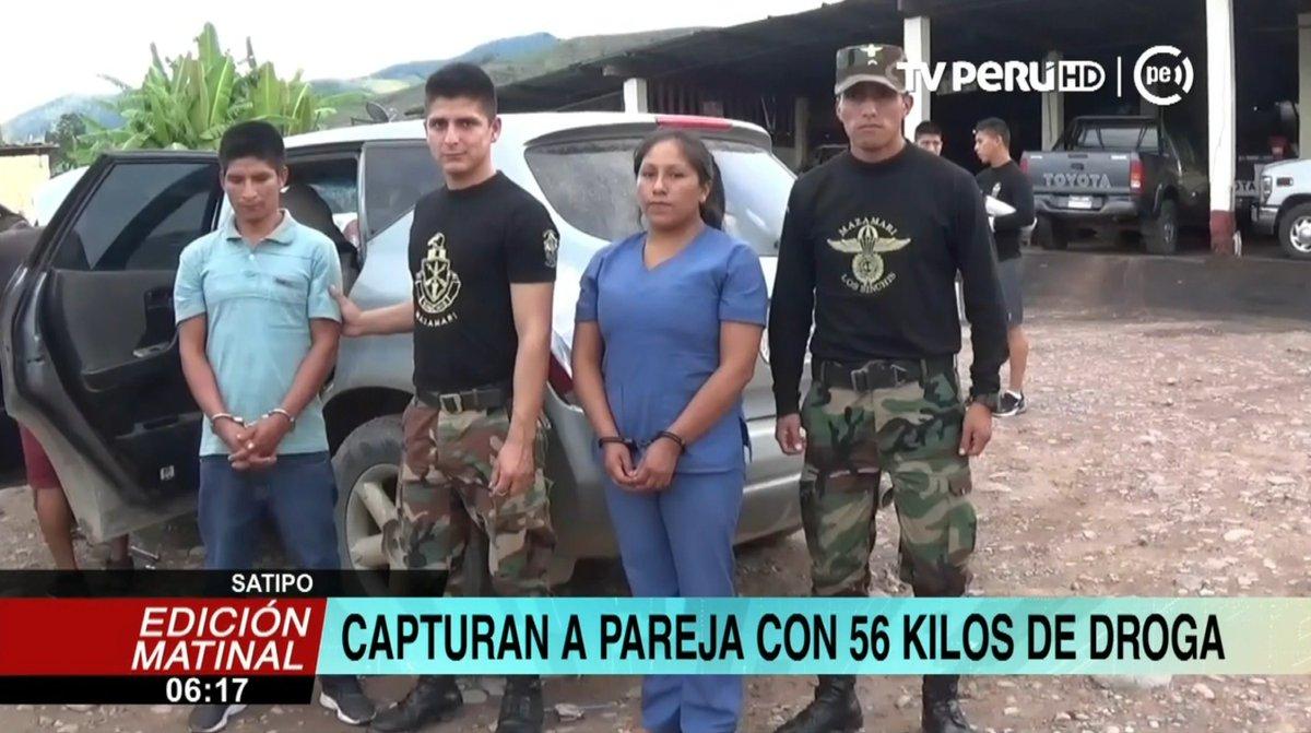 Captura A Una Pareja En Satipo Que Transportaba 56 Kilos De Cocana