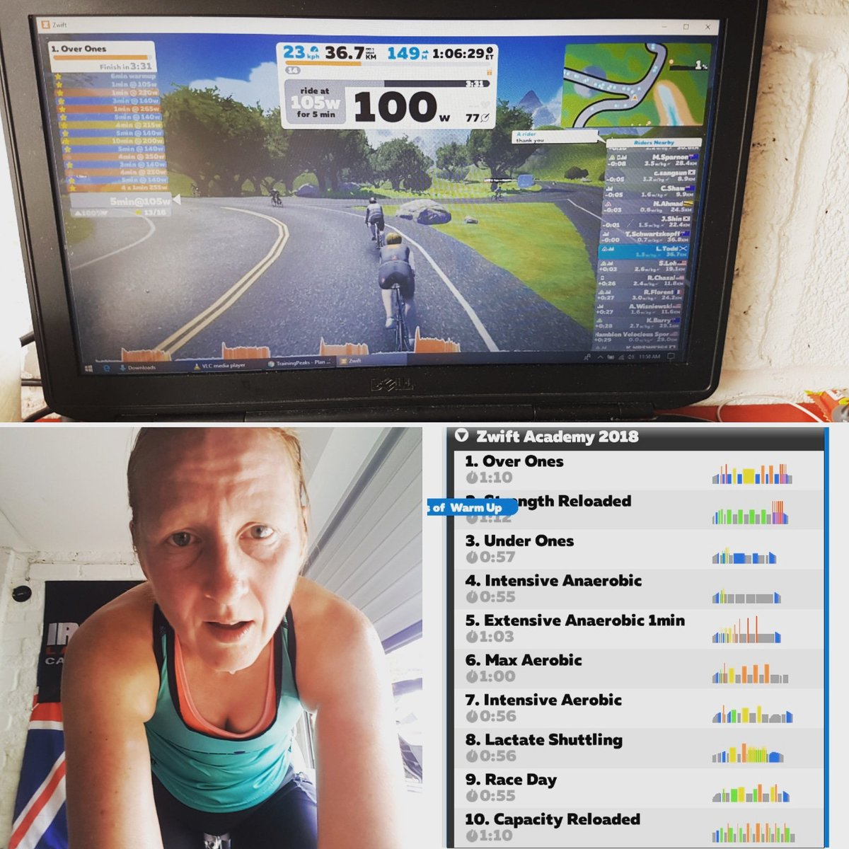 test Twitter Media - OMG my thighs are burning. First @GoZwift academy session today and I am ruined 😂 bring on the next one 😲 #sweatfest #TurboTuesday #gozwift https://t.co/rAXuiJNZ2V