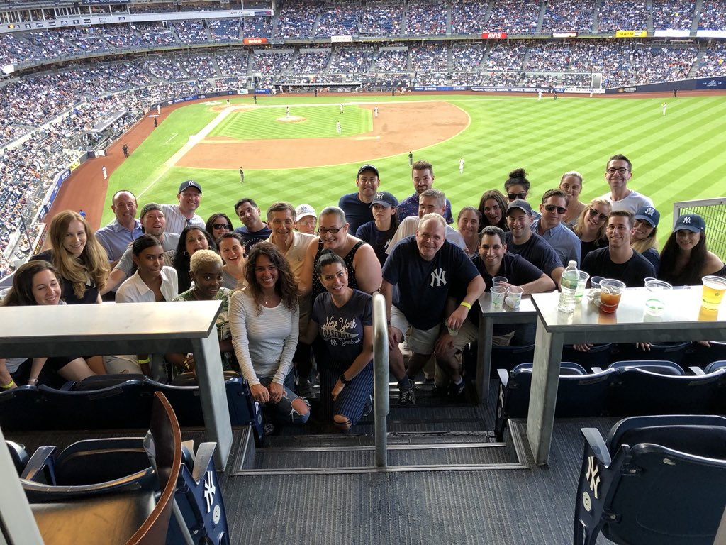 RT @RomerDebbas: RD Summer Firm Outing in the books. Great time! @Yankees https://t.co/4n7ht2MIJY