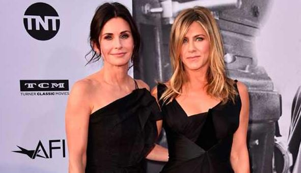 Jennifer Aniston has gotten over her heartbreak with a little help from her FRIENDS, duh.