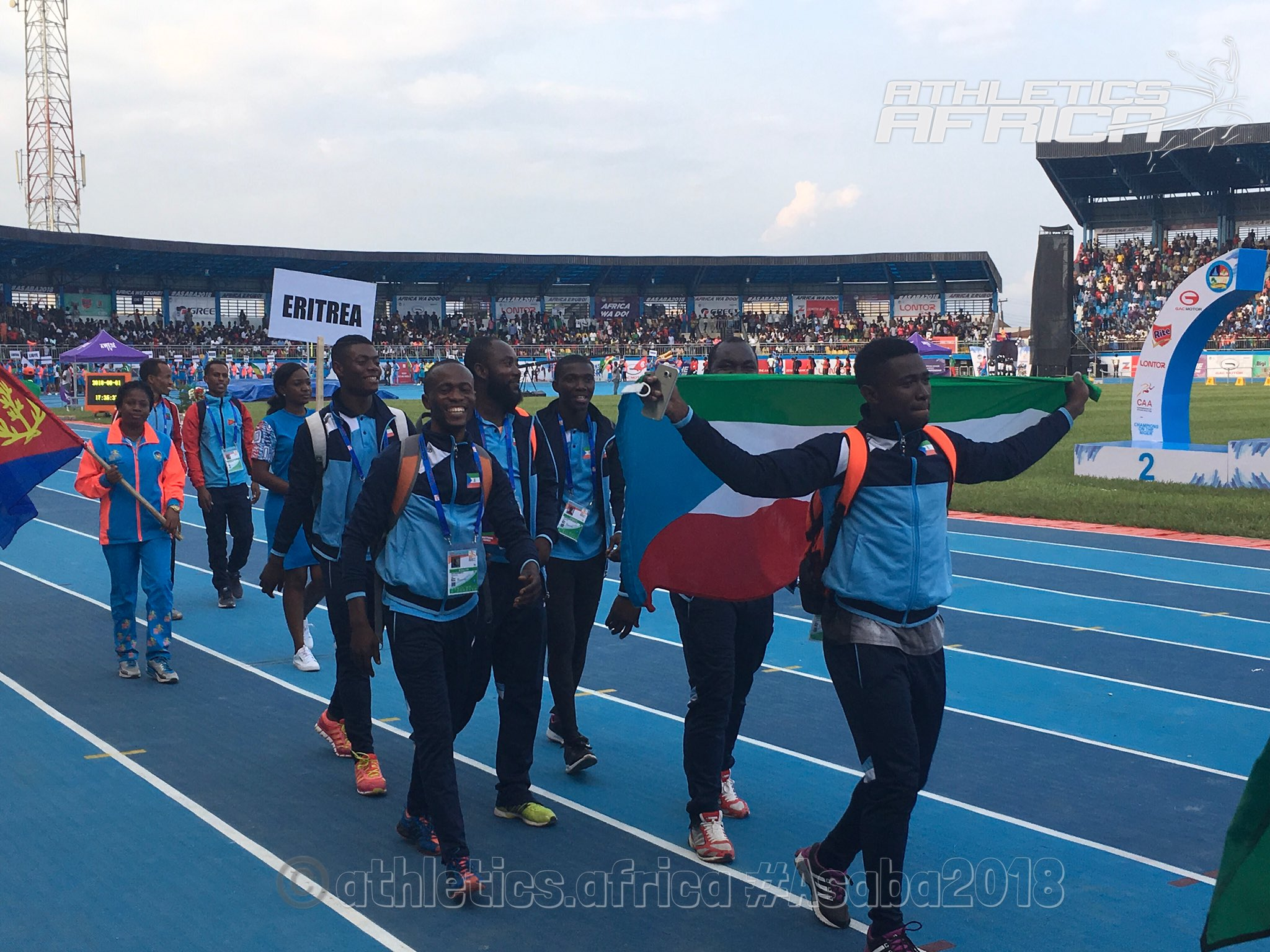 #Photo gallery: Opening ceremony and team parade - 2018 CAA Africa Senior Athletics Championships in Asaba, Nigeria.   #Asaba2018 #AthleticsAfrica @caaasaba2018 @iaafostrava2018 #Athletics https://t.co/txdC0PzXjh