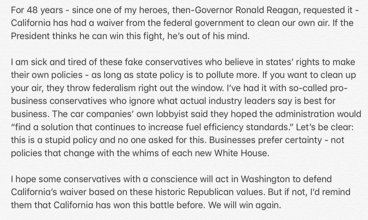 My statement on today's stupid, fake-conservative policy announcement that no one asked for. https://t.co/ojAhWTFpDM