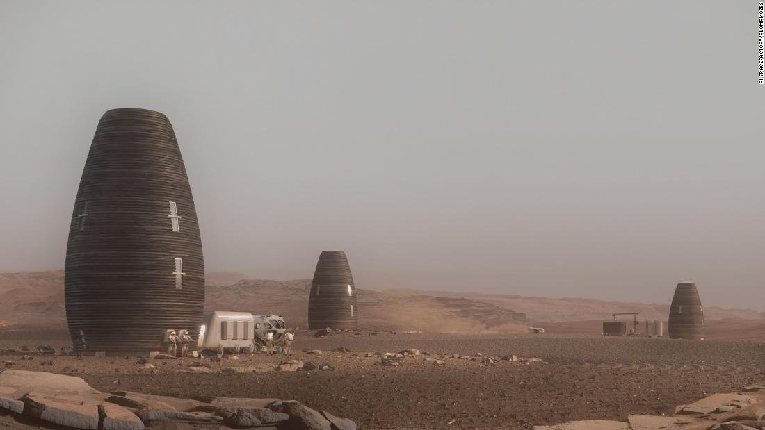 NASA backs designs for 3D-printed homes on Mars — and they look like beehives