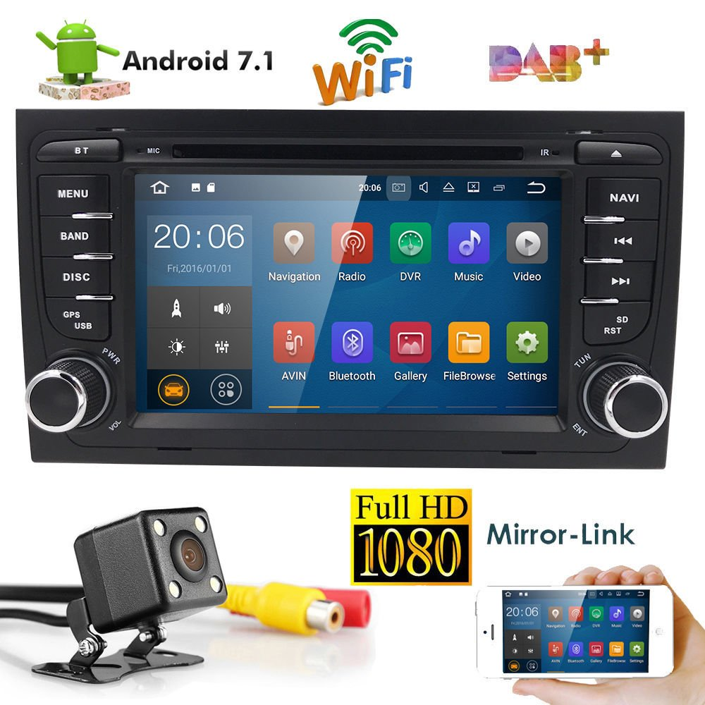 Android 71 7 Car Dvd Player Dab Gps Stereo Radio Wifi For Audi A4