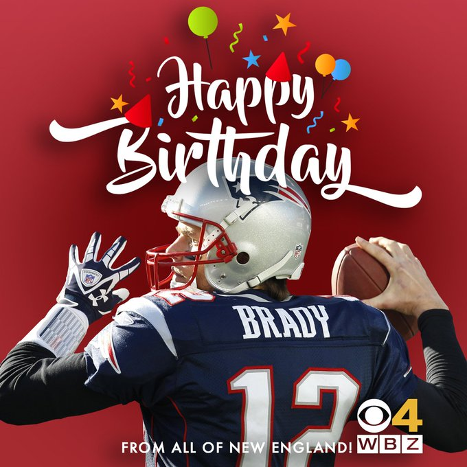 HAPPY BIRTHDAY, Tom Brady! Here\s to 41 being your best year yet!