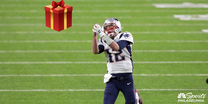 Happy birthday Tom Brady!  If you get him a gift, make sure you hand it to him.