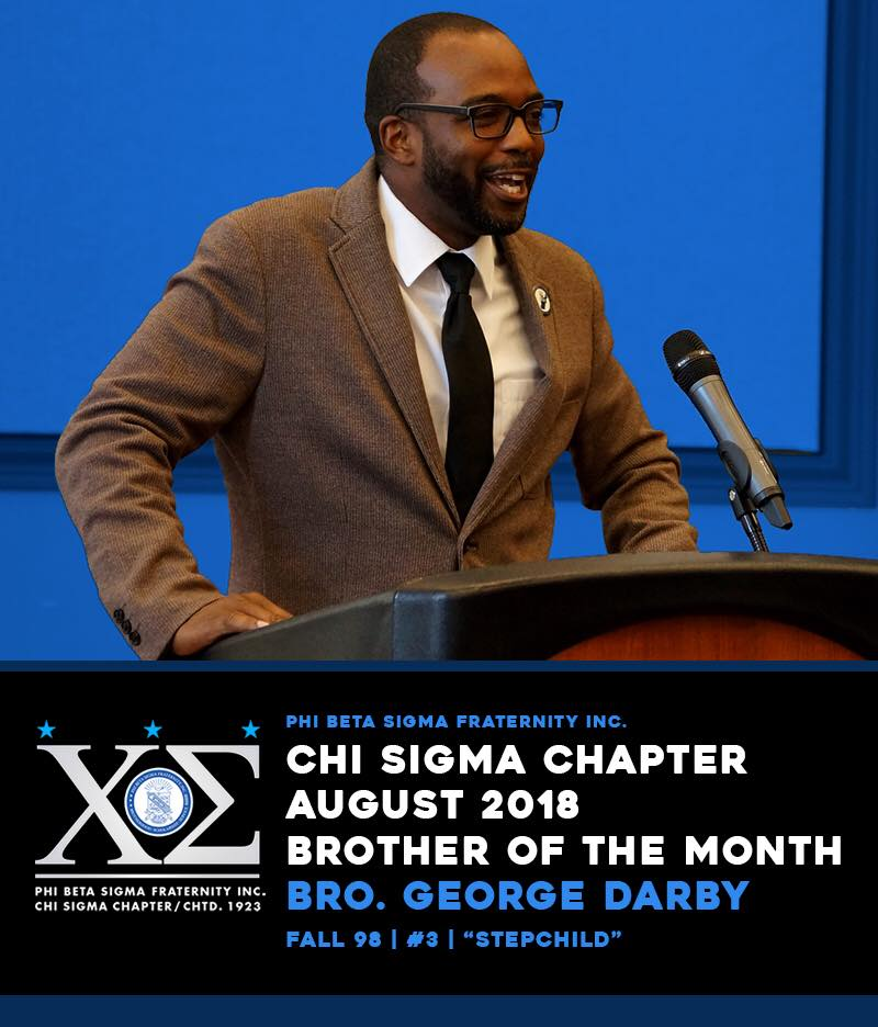 test Twitter Media - Please join me in congratulating one of the hardest working Sigmas on the East Coast. Everyone that is connected to Sigma knows that they can count on this brother for anything. Chi Sigma Chapter is recognizing Bro. George Darby as Brother of the Month for August 2018 https://t.co/v7TPHX78Pq