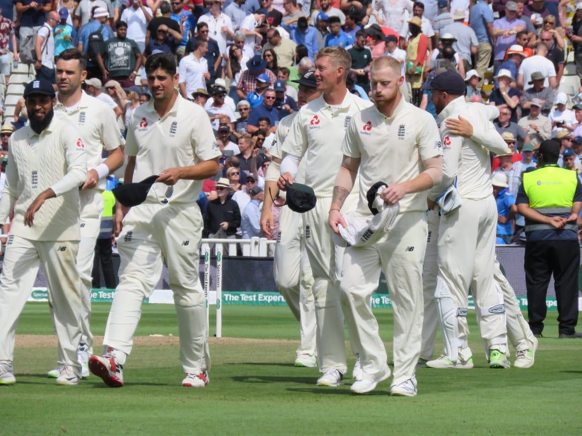 England win the 1st Test by 31 runs.  #ENGvIND https://t.co/v6IVoAhbXE