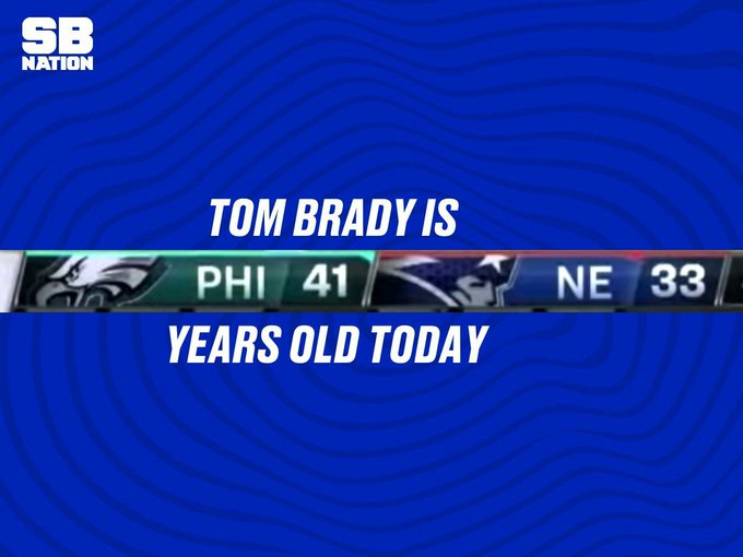How Eagles fans are wishing Tom Brady a happy birthday this weekend