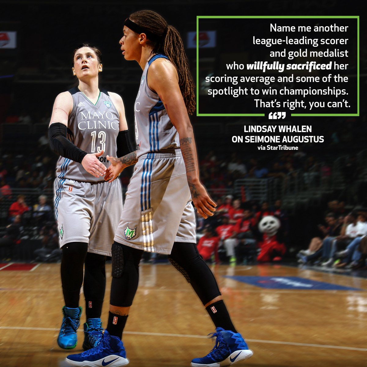 RT @minnesotalynx: What's a point guard without her teammates?  @Lindsay_13 says 'Thank You' in the @StarTribune. https://t.co/pbsSqKz0Xs