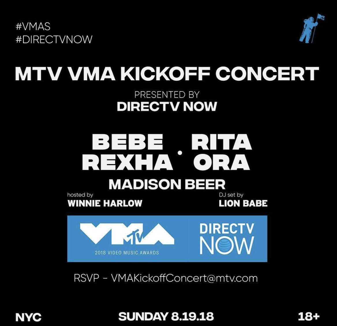 Finally get to see my girl @BebeRexha tonight performing at the @MTV @vmas Kickoff show in New York City!! https://t.co/EOMDeZ99or
